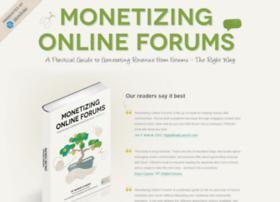 monetizingonlineforums.com