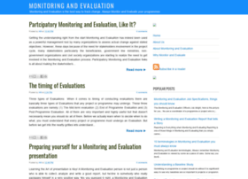 monitoring-and-evaluation.blogspot.com