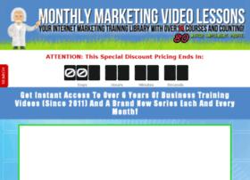 monthlymarketingvideolessons.com