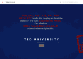 moodle.tedu.edu.tr