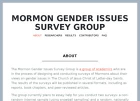 mormongendersurvey.org