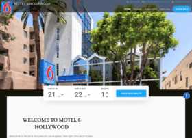 motel6hollywood.com