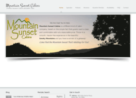 mountainsunsetcabins.com