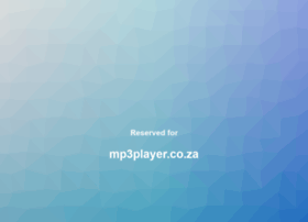 mp3player.co.za