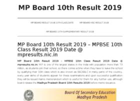 mpboard10thresult2018.in