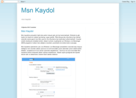 msnkaydolun.blogspot.com