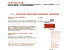msuniversityresults.in