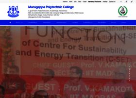 murugappapoly.ac.in