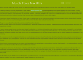 muscleforcemaxultra.yolasite.com