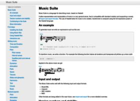 music-suite.github.io
