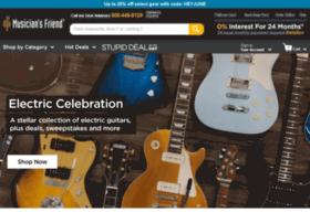 musicansfriend.com