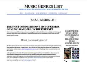musicgenreslist.com
