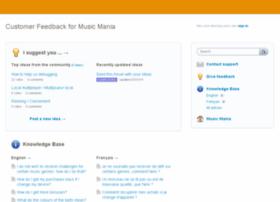 musicmania.uservoice.com