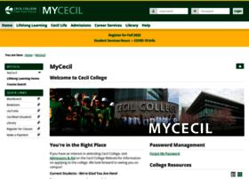 my.cecil.edu