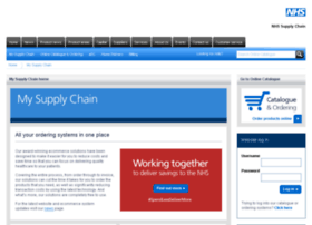 my.supplychain.nhs.uk