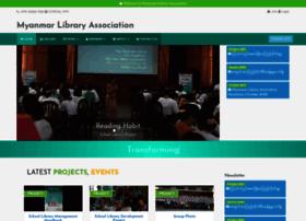 myanmarlibraryassociation.org