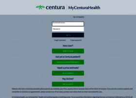 mycenturahealth.org