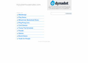 mycyberhouserules.com
