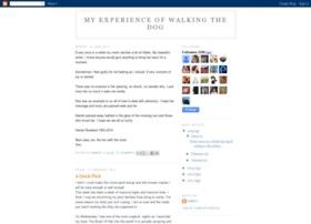 myexperienceofwalkingthedog.blogspot.co.nz