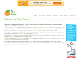 myfoodrecord.com
