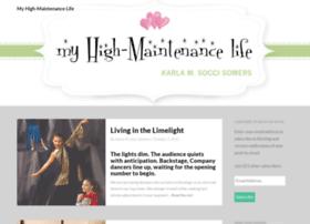 myhighmaintenancelife.com