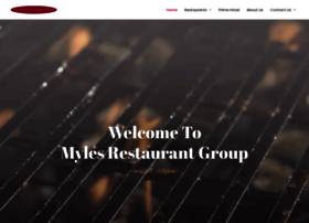 mylesrestaurantgroup.com