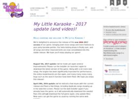 mylittlekaraoke.com