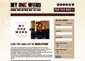 myoneword.org