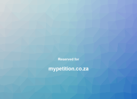 mypetition.co.za