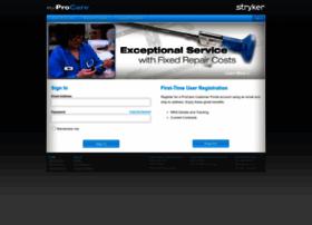 myprocare.stryker.com
