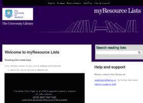 myresourcelists.sheffield.ac.uk