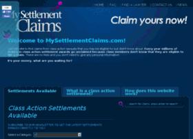 mysettlementclaims.com