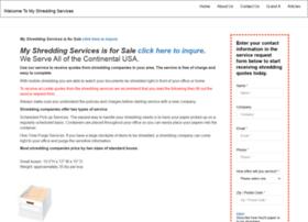 myshreddingservices.com