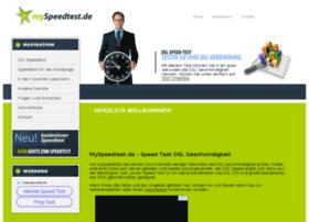 myspeedtest.de