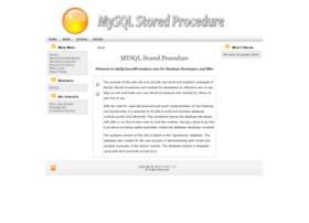 mysqlstoredprocedure.com