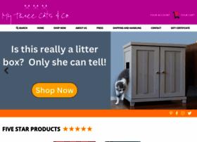 mythreecats.com