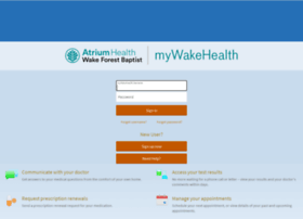 mywakehealth.com