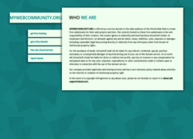 mywebcommunity.org