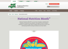 nationalnutritionmonth.org