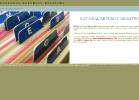 nationalrepublicregistry.com