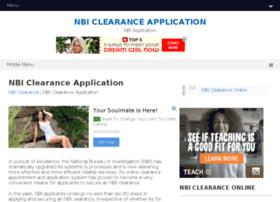 nbiclearanceapplication.com