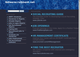 ndlearecruitment.net