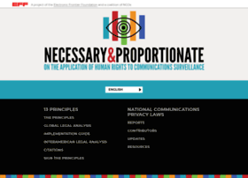 necessaryandproportionate.org