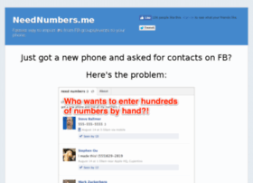 neednumbers.me
