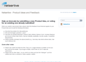 netsertive.uservoice.com
