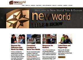 newworldtitle.com