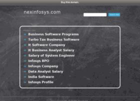 nexinfosys.com
