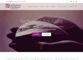 nicholsonsolutions.co.uk