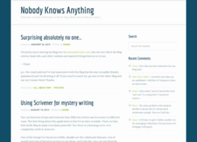nobody-knows-anything.com