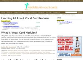 nodulesonvocalchords.com